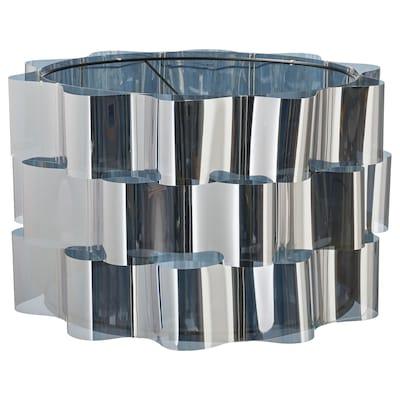ÄLVSTARR Pantalla para lámpara, efecto cromado, 51 cm