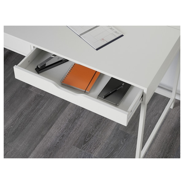 ALEX Escritorio, blanco, 132x58 cm