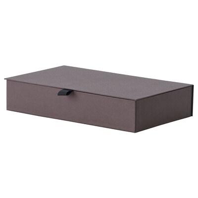 ANILINARE Joyero con compartimentos, café oscuro, 30x18x6 cm