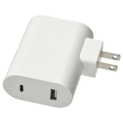 ÅSKSTORM Cargador USB 23W, blanco