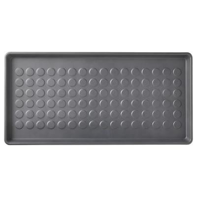 BAGGMUCK Tapete para zapatos, int/ext/gris, 71x35 cm