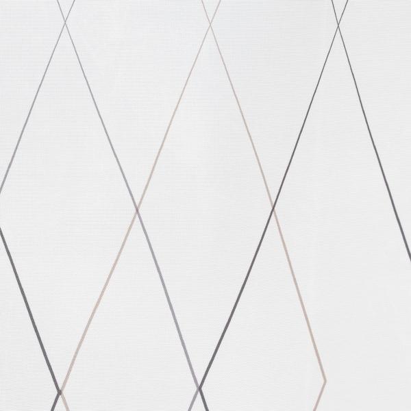 BASTSJÖN Cortina para regadera, blanco/gris/beige, 180x180 cm