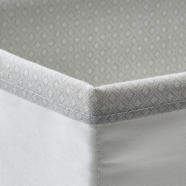 BAXNA Caja organizadora, gris/blanco, 17x20x6 cm