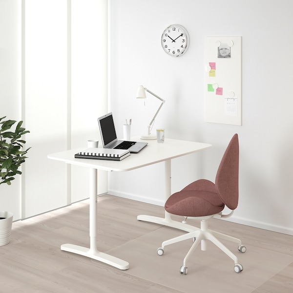 BEKANT Escritorio, blanco, 120x80 cm