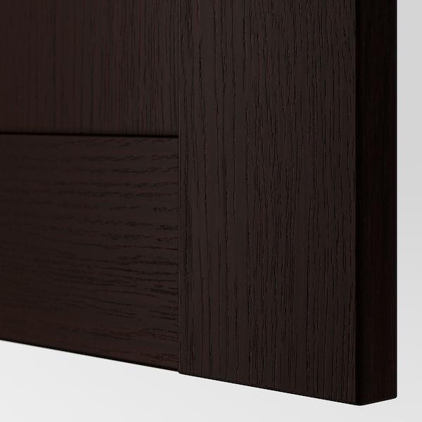 BERGSBO Puerta con bisagras, negro-café, 50x195 cm