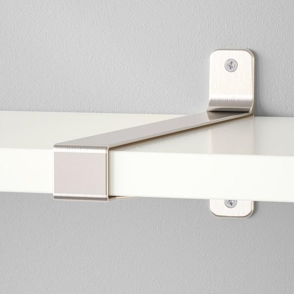BERGSHULT / GRANHULT Repisa, blanco/niquelado, 160x30 cm