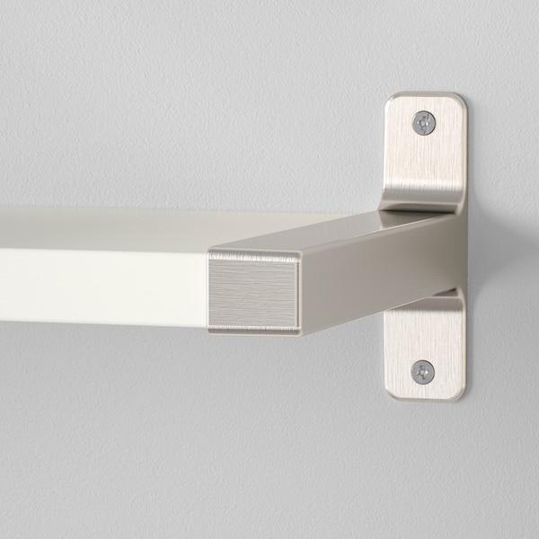 BERGSHULT / GRANHULT Repisas de pared, blanco/niquelado, 80x20 cm