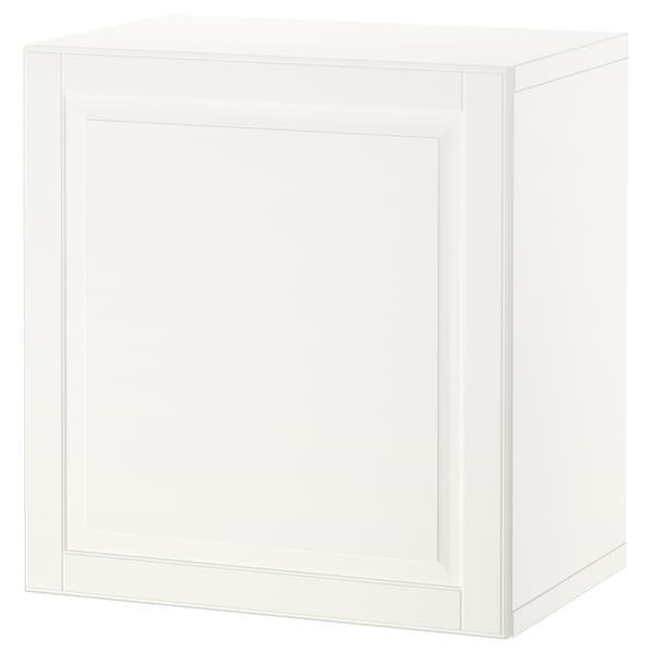 BESTÅ Estante con puerta, blanco/Smeviken blanco, 60x42x64 cm