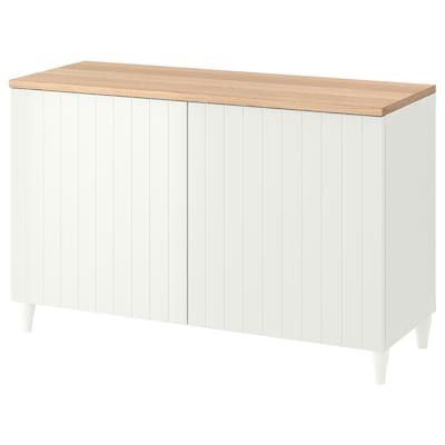 BESTÅ Sol almacenaje con puertas, blanco/Sutterviken/Kabbarp blanco, 120x42x76 cm