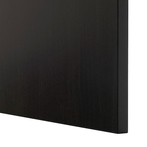 BESTÅ Solución Almacenamiento con cajones, negro-café Lappviken/Sindvik vidrio transparente negro-café, 180x42x65 cm