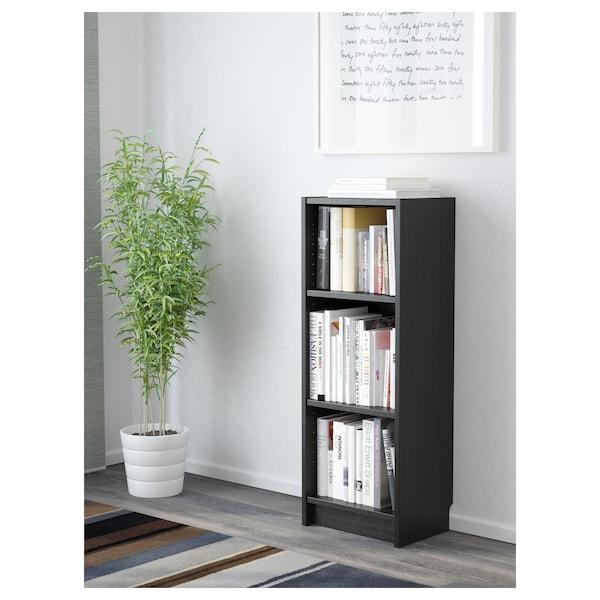 BILLY Librero, negro-café, 40x28x106 cm