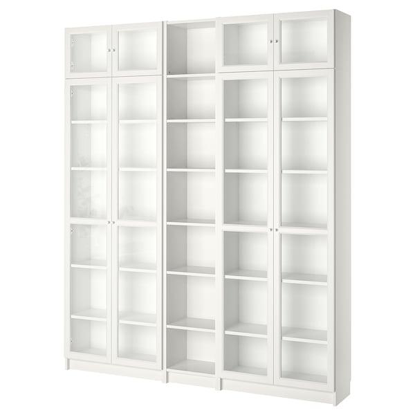 BILLY / OXBERG Librero, blanco, 200x30x237 cm