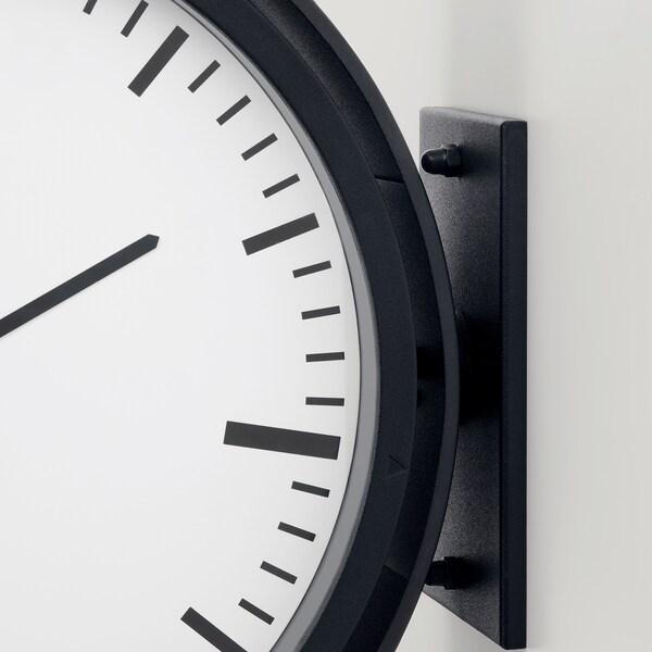 BISSING Reloj de pared, negro, 28 cm