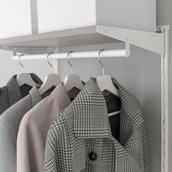 BOAXEL 2 secciones, blanco/gris, 125x40x201 cm