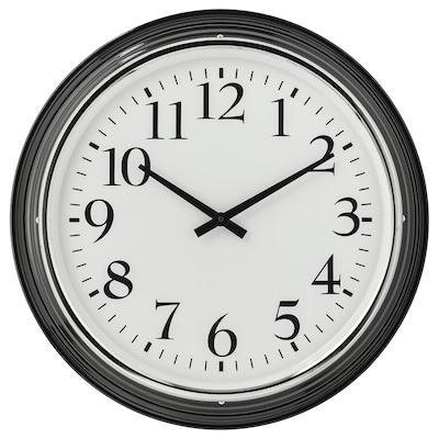 BRAVUR Reloj de pared, negro