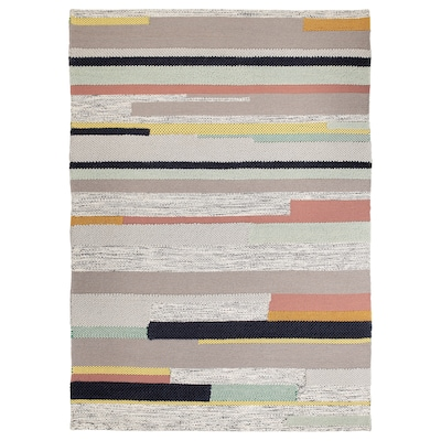 BRÖNDEN Tapete, pelo corto, a mano multicolor, 170x240 cm