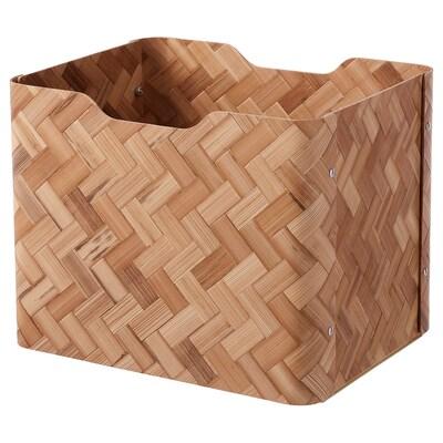 BULLIG Caja, bambú/café, 25x32x25 cm