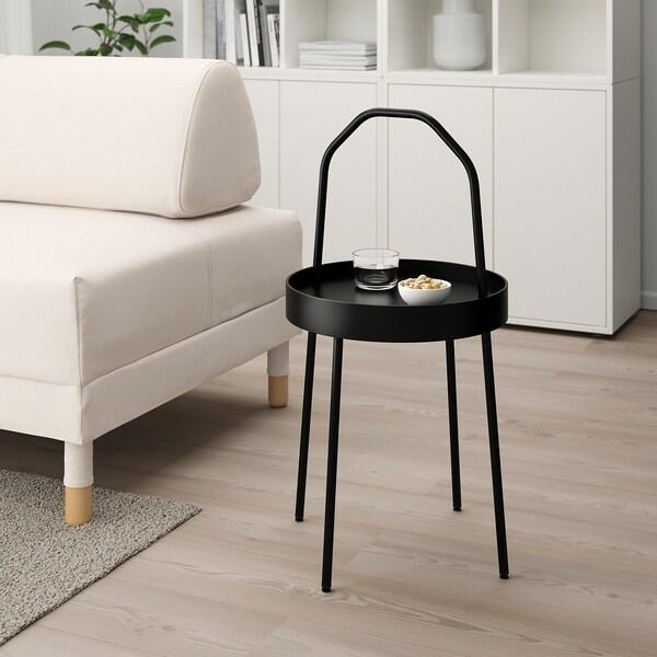 BURVIK Mesa Lateral, negro, 38 cm