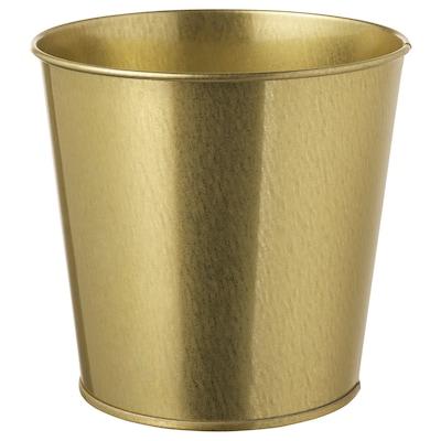 DAIDAI Maceta, dorado, 12 cm