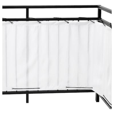 DYNING Pantalla para balcón privado, blanco, 250x80 cm