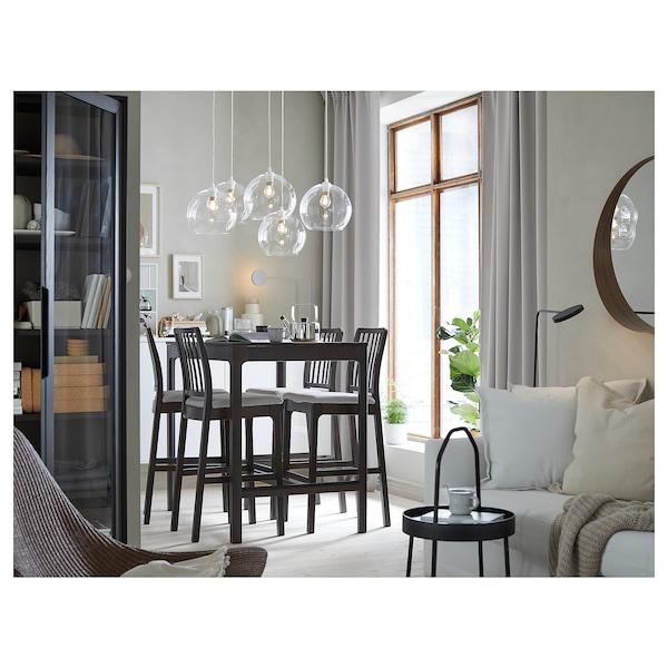 EKEDALEN Mesa alta, café oscuro, 120x80 cm