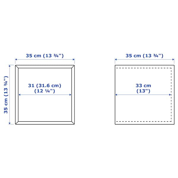 EKET Gabinete de pared con puerta, blanco, 35x35x35 cm