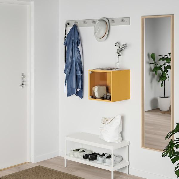 EKET Gabinete de pared con puerta, café dorado, 35x35x35 cm