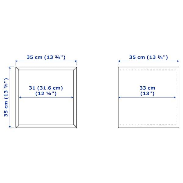 EKET Gabinete de pared con puerta, efecto roble tinte blanco, 35x35x35 cm