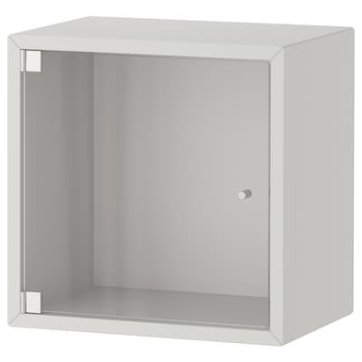 EKET Gabinete de pared con puerta, gris claro, 35x25x35 cm