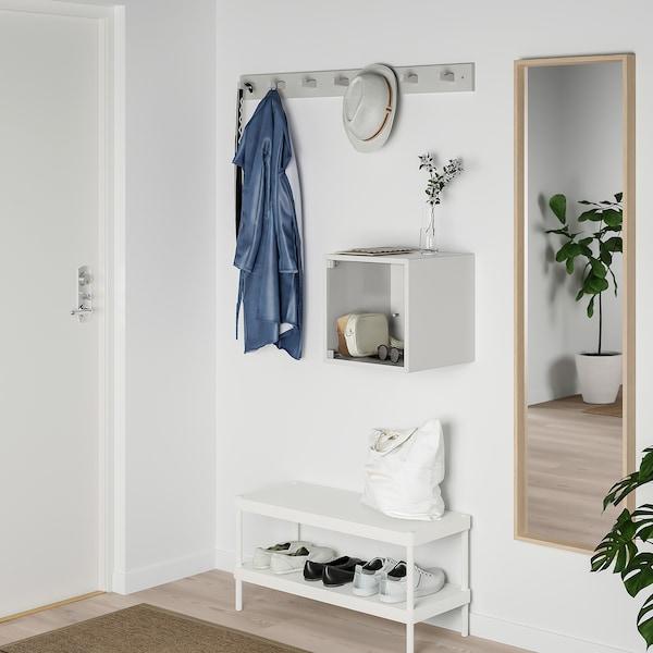 EKET Gabinete de pared con puerta, gris claro, 35x35x35 cm
