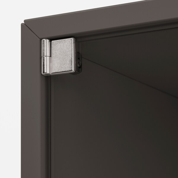 EKET Gabinete de pared con puerta, gris oscuro, 35x35x35 cm