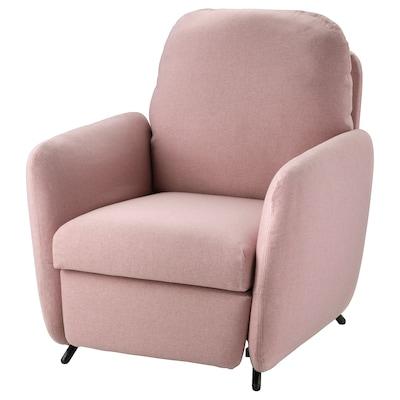 EKOLSUND Sillón reclinable, Gunnared café rosa claro