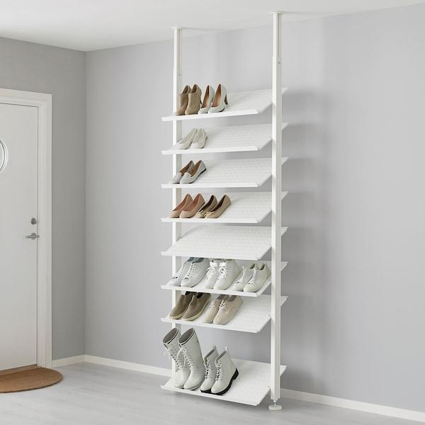 ELVARLI Combinación de almacenaje abierta, blanco, 92x36x222-350 cm