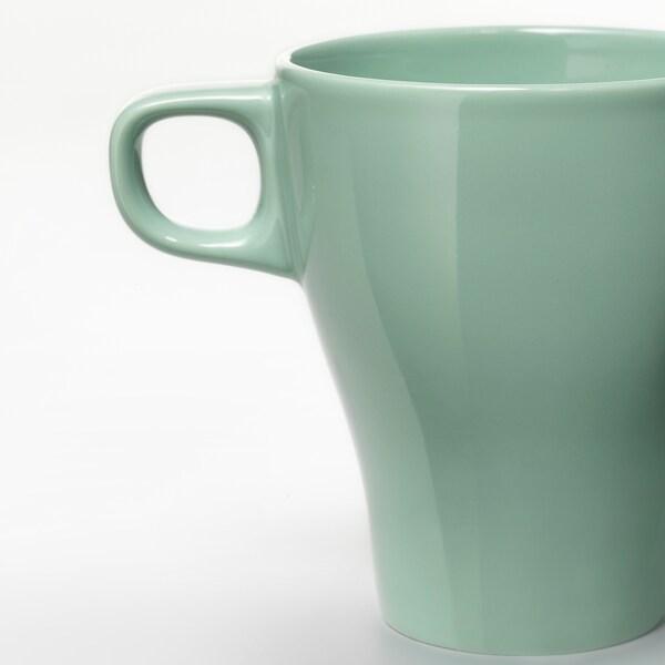 FÄRGRIK Taza, verde claro, 25 cl