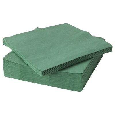 FANTASTISK Servilleta de papel, verde oscuro, 40x40 cm