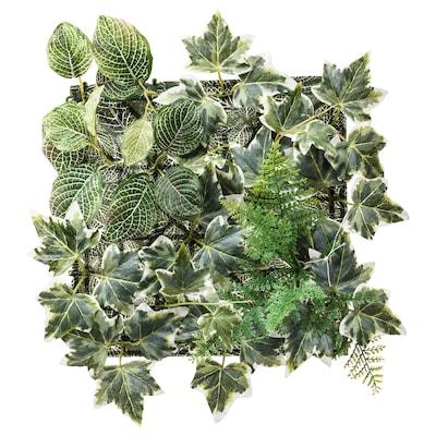 FEJKA Planta artificial, de montaje en pared/int/ext verde, 26x26 cm