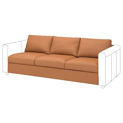 FINNALA Módulo de 3 asientos, Grann/Bomstad café dorado
