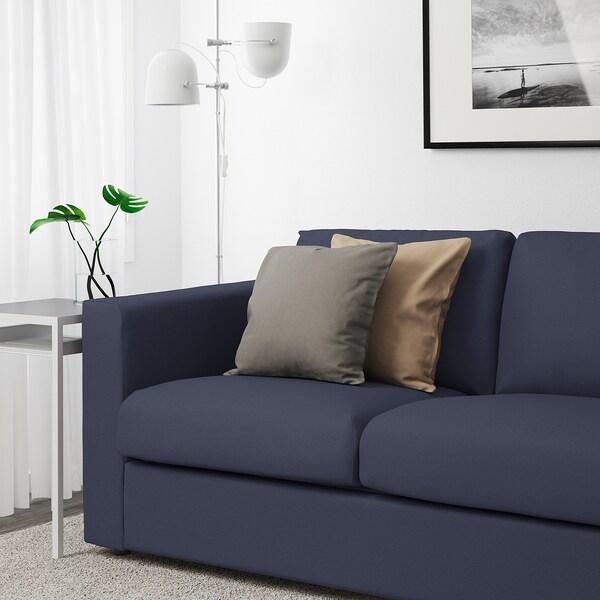 FINNALA Sofá esquina 4 asientos, +extremo abierto con reposacabezas/Orrsta negro-azul