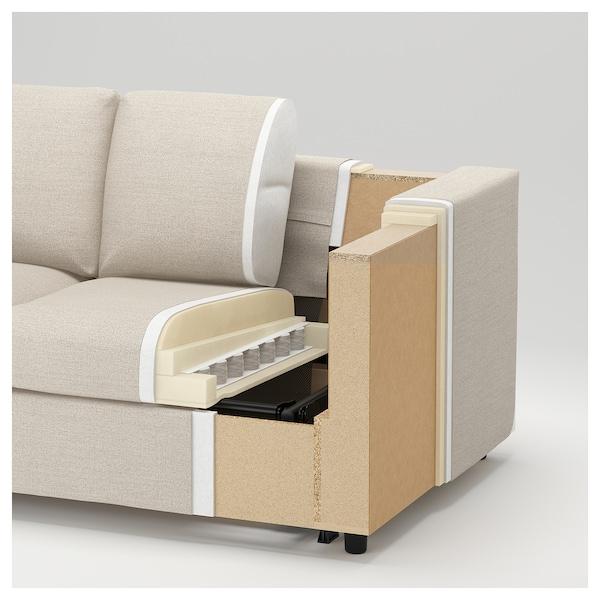 FINNALA Sofá esquina 4 asientos, Gunnared beige
