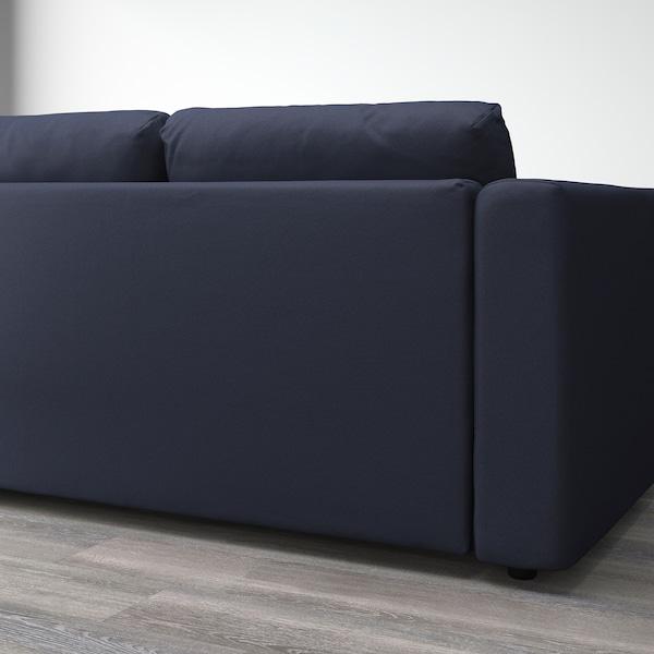 FINNALA Sofá esquina 4 asientos, Orrsta negro-azul