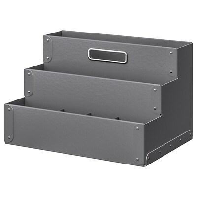 FJÄLLA Organizador de escritorio, gris oscuro, 35x21 cm