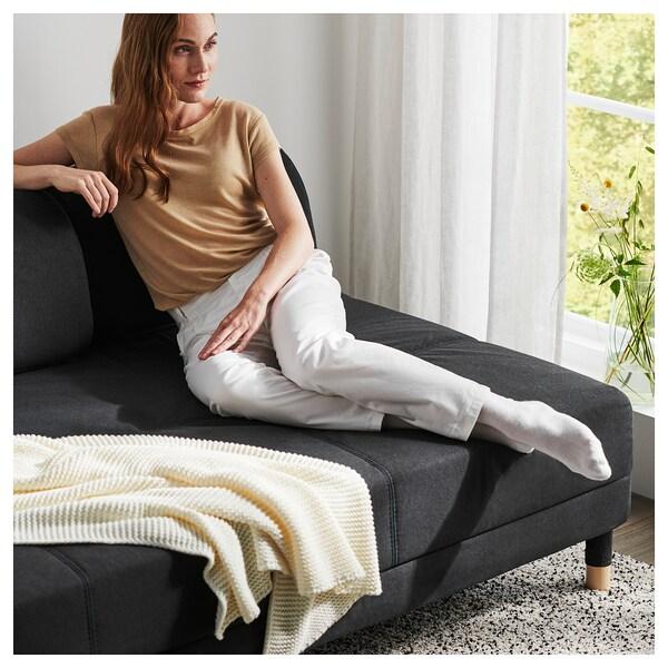 FLOTTEBO Sofá cama, Vissle gris oscuro, 120 cm