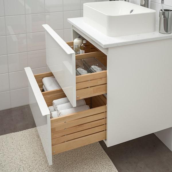 GODMORGON/TOLKEN / HÖRVIK Base de lavabo con barra y lavabo