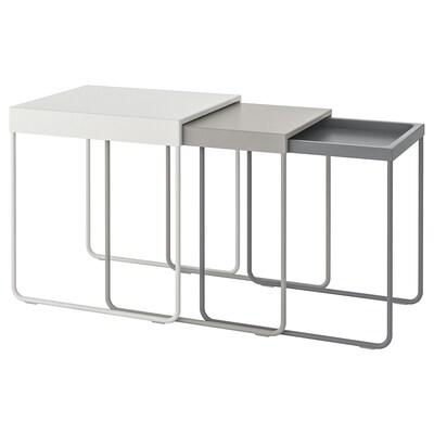 GRANBODA Set de 3 mesas