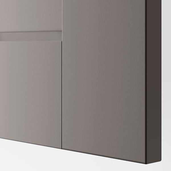 GRIMO Puerta con bisagras, gris, 50x229 cm