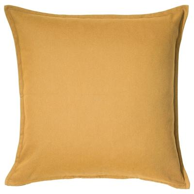 GURLI Funda de cojín, dorado-amarillo, 50x50 cm