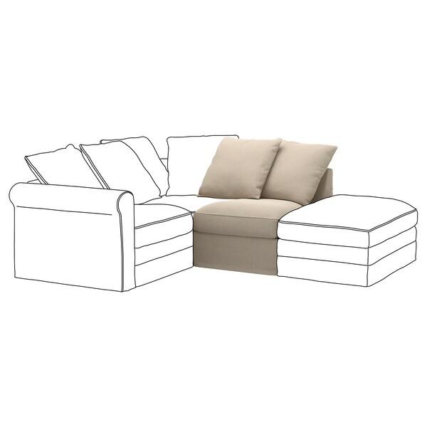 HÄRLANDA Funda con 1 asiento, Sporda natural