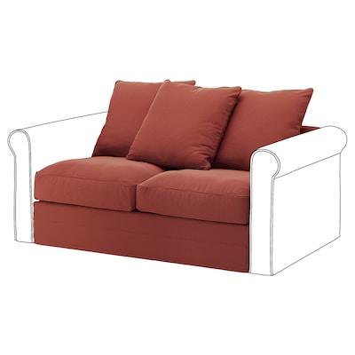 HÄRLANDA Módulo de 2 asientos, Ljungen rojo claro