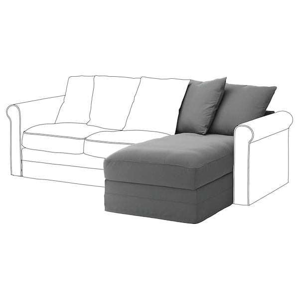 HÄRLANDA Módulo de chaise-longue, Ljungen gris intermedio