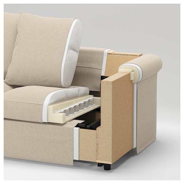 HÄRLANDA Sofá 4 asientos, con chaiselongues/Inseros blanco